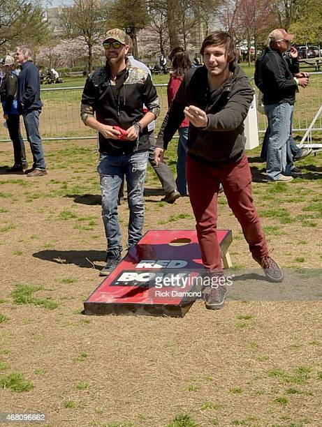 Singers/Songwriters Preston Brust and Charlie Worsham compete during the 3rd Annual Craig Campbell Celebrity Cornhole Challenge to Fight Colorectal...