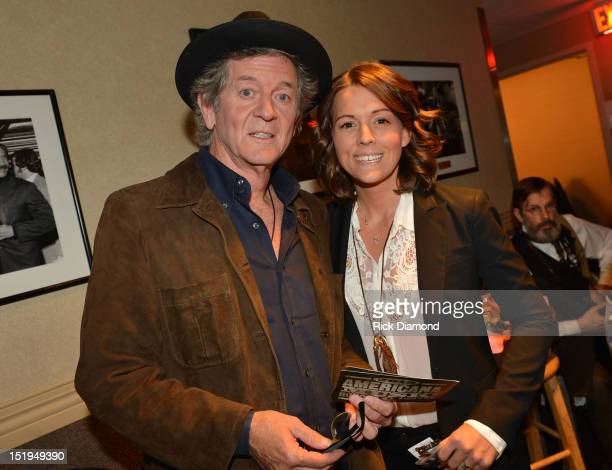Singers/Songwriters Rodney Crowell and Brandi Carlile backstage during the 11th Annual Americana Honors Awards at The Ryman Auditorium on September...