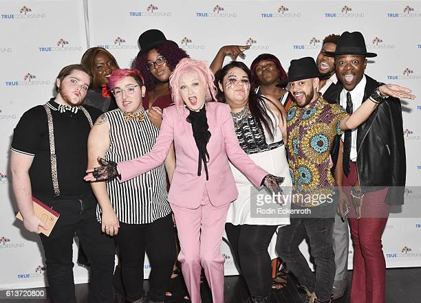 Singer/True Colors Fund cofounder Cyndi Lauper and the True Colors Fund youth attend her 'Damn Gala' at Hollywood Athletic Club on October 9 2016 in...