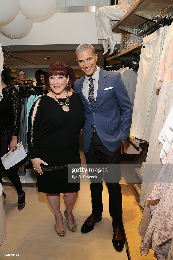 Singer/TV host Carnie Wilson and TV personality Jay Manuel attend Carnie Wilson & Jay Manuel Celebrate Lane Bryant's NYC Flagship on February 28, 2013 in New York City.