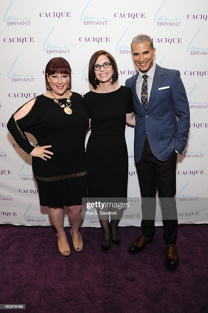Singer/TV host Carnie Wilson, CEO of Lane Bryant Linda Heasley and TV personality Jay Manuel attend Carnie Wilson & Jay Manuel Celebrate Lane Bryant's NYC Flagship on February 28, 2013 in New York City.