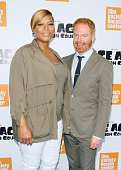 Singer/TV host Queen Latifah and actor Jesse Tyler Ferguson attend the 'Ice Age Collision Course' New York screening at Walter Reade Theater on July...
