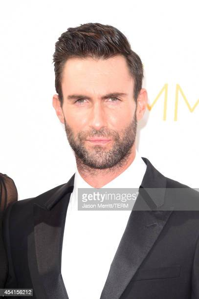 Singer/TV personality Adam Levine attends the 66th Annual Primetime Emmy Awards held at Nokia Theatre LA Live on August 25 2014 in Los Angeles...