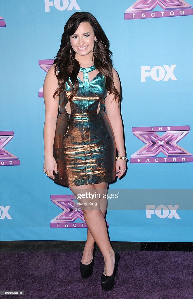 Singer/tv personality Demi Lovato attends the season finale of Fox's 'The X Factor' at CBS Television City on December 20, 2012 in Los Angeles, California.