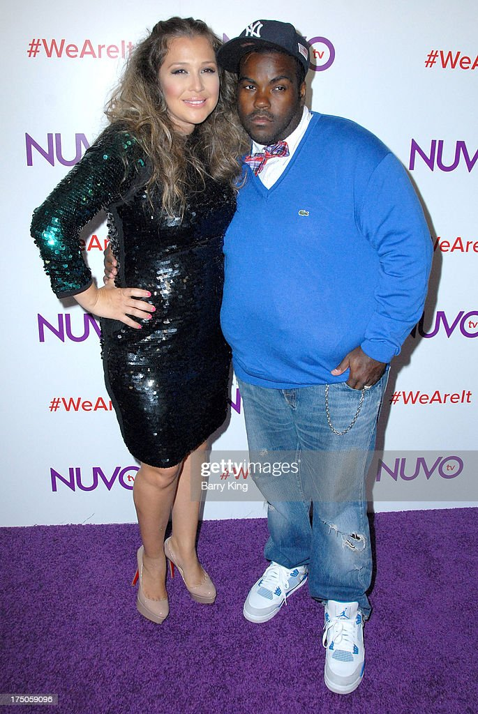 Singer/tv personality Joy Enriquez (L) and husband producer Rodney Jerkins attend NUVOtv Network launch party at The London West Hollywood on July 16, 2013 in West Hollywood, California.