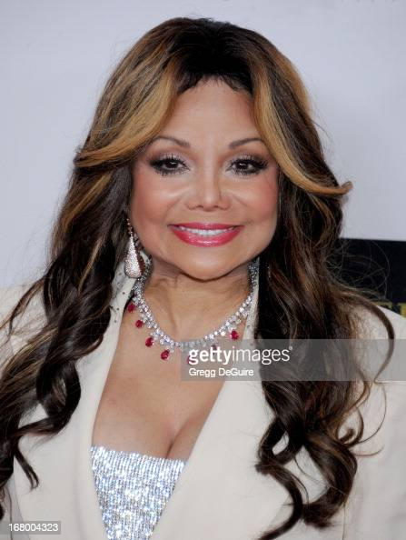 Singer/TV personality La Toya Jackson arrives at the 20th Annual Race To Erase MS Gala 'Love To Erase MS' at the Hyatt Regency Century Plaza on May 3...