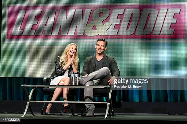 Singer/TV personality LeAnn Rimes and actor Eddie Cibrian speak onstage at the 'Leann and Eddie' panel during the Viacom portion of the 2014 Summer...