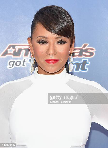 Singer/TV personality Mel B attends the 'America's Got Talent' season 10 taping at Radio City Music Hall on August 11 2015 in New York City