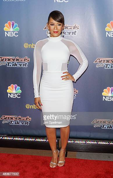 Singer/TV personality Mel B attends the 'America's Got Talent' season 10 preshow red carpet at Radio City Music Hall on August 11 2015 in New York...