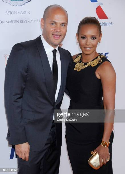 Singer/TV personality Melanie Brown and husband Stephen Belafonte arrive at the 20th Annual Race To Erase MS Gala 'Love To Erase MS' at the Hyatt...