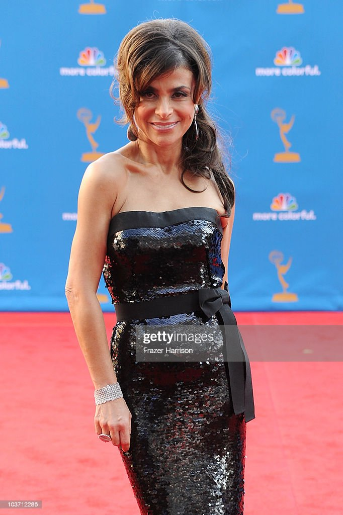 Singer/tv personality <a gi-track='captionPersonalityLinkClicked' href=/galleries/search?phrase=Paula+Abdul&family=editorial&specificpeople=202119 ng-click='$event.stopPropagation()'>Paula Abdul</a> arrives at the 62nd Annual Primetime Emmy Awards held at the Nokia Theatre L.A. Live on August 29, 2010 in Los Angeles, California.