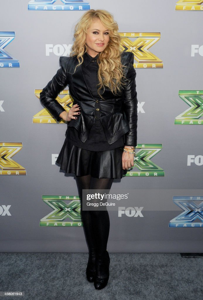 Singer/TV personality Paulina Rubio attends FOX's 'The X Factor' season finale at CBS Television City on December 19, 2013 in Los Angeles, California.