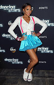 Singer/TV personality Tamar Braxton attends 'Dancing with the Stars' Season 21 at CBS Televison City on September 22 2015 in Los Angeles California