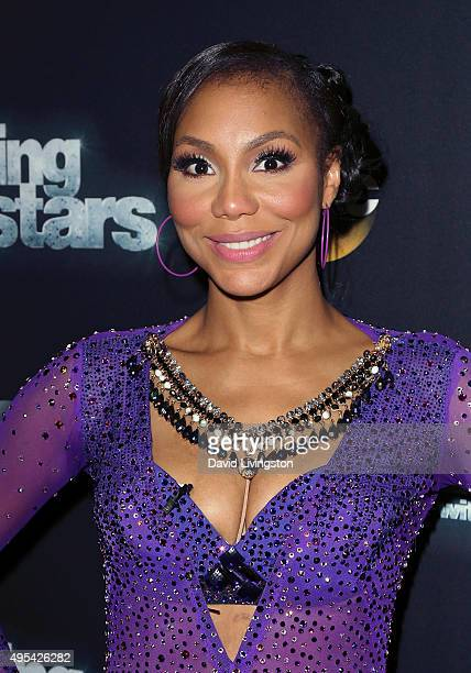 Singer/TV personality Tamar Braxton attends 'Dancing with the Stars' Season 21 at CBS Televison City on November 2 2015 in Los Angeles California