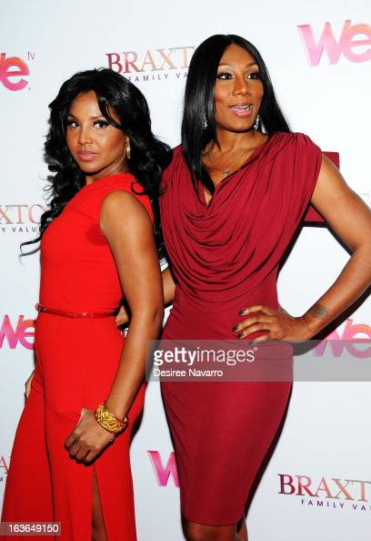 Singer/TV Personality Toni Braxton and Towanda Braxton attend the 'Braxton Family Values' Season Three premiere party at STK Rooftop on March 13 2013...