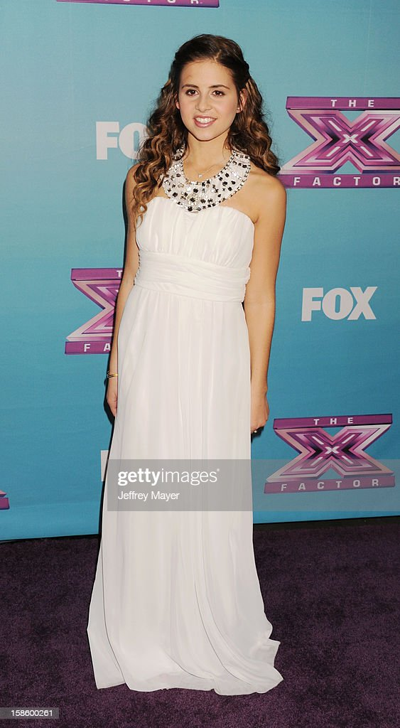 Singer/X Factor finalist Carly Rose Sonenclar arrives at Fox's 'The X Factor' Season Finale Night 1 at CBS Television City at CBS Studios on December 19, 2012 in Los Angeles, California.