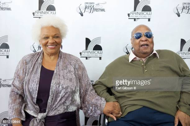 Singes Barbara Morrison and Les McCann attend the Long Beach Jazz Festival at Rainbow Lagoon Park on August 13 2017 in Long Beach California