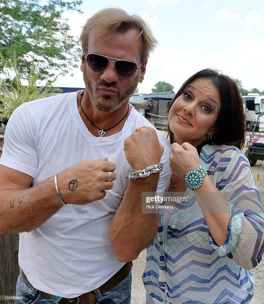Singe/Songwriter <a gi-track='captionPersonalityLinkClicked' href=/galleries/search?phrase=Phil+Vassar&family=editorial&specificpeople=619225 ng-click='$event.stopPropagation()'>Phil Vassar</a> visits Nan Kelley at GAC during Country Thunder - Twin Lakes, Wisconsin - Day 3 on July 20, 2013 in Twin Lakes, Wisconsin.