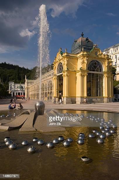 Singing Fountain at spa resort town.