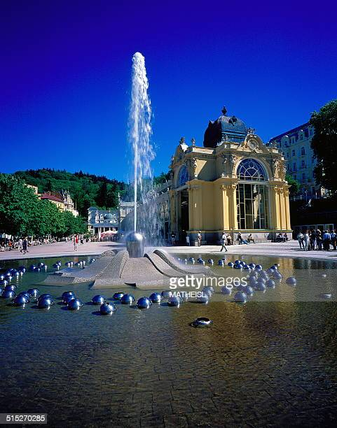 Singing Fountain at the Health Resort Marianske Lazne Marienbad West Bohemia Czech Republic Europe