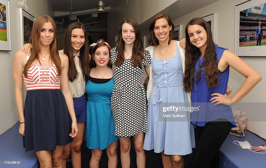 Singing group Cimorelli pose after singing the national anthem before the game between the Los Angeles Dodgers and the Colorado Rockies at Dodger Stadium on July 13, 2013 in Los Angeles, California.