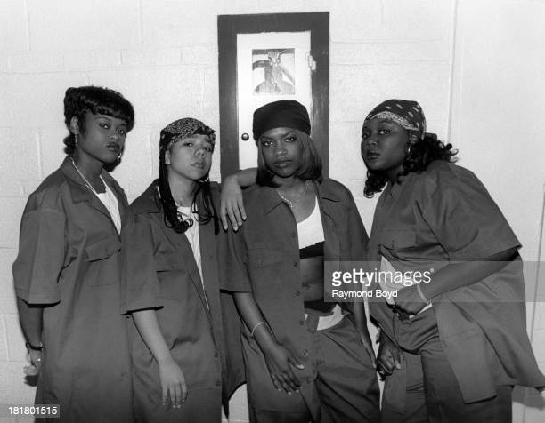 Singing group Xscape poses for photos at the Hyatt Hotel in Chicago Illinois in SEPTEMBER 1994