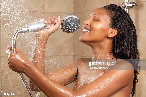 Singen in Dusche.