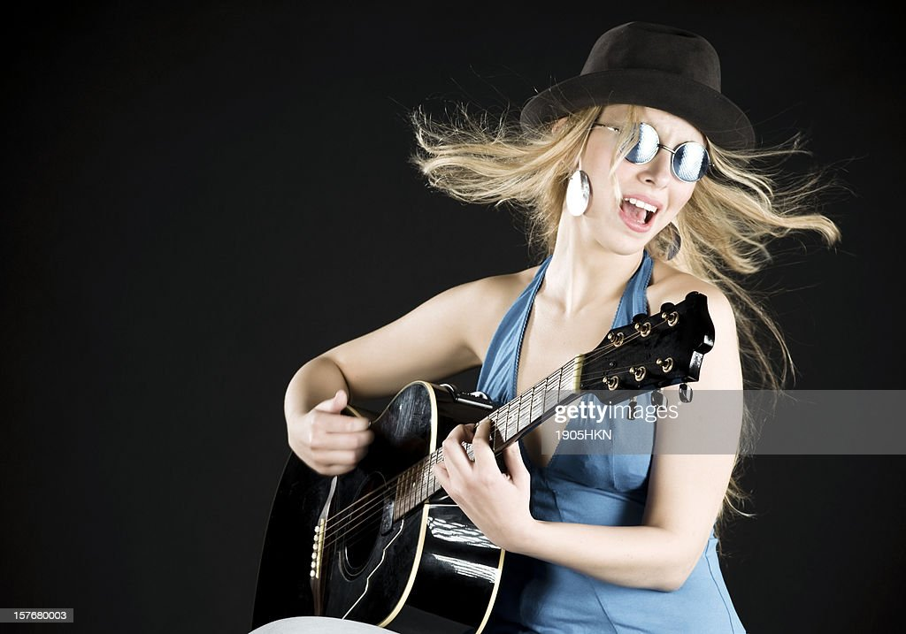 Singing song : Stock Photo