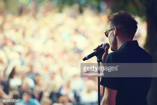 Singing to a sea of faces