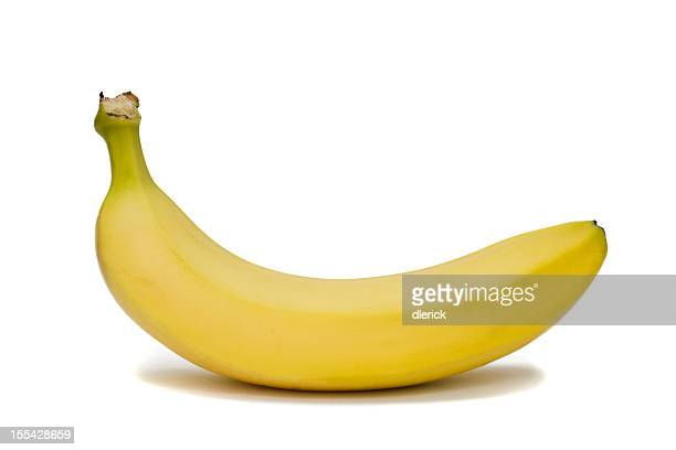 Single Banana Isolated on White