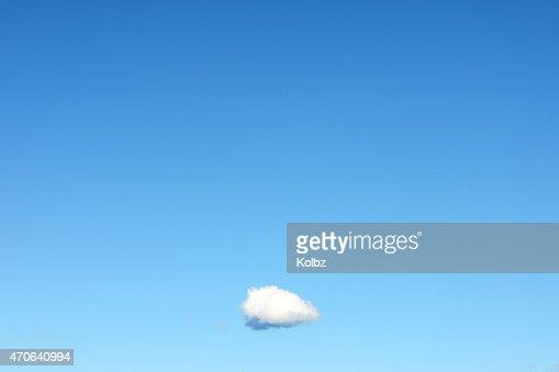 Single Cloud in Clear Blue Sky