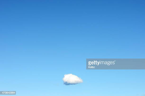 Single Cloud in Clear Blue Sky