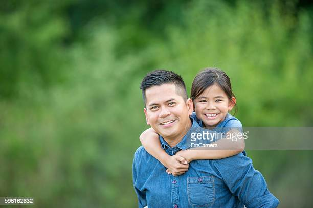 Single Father with His Daughter
