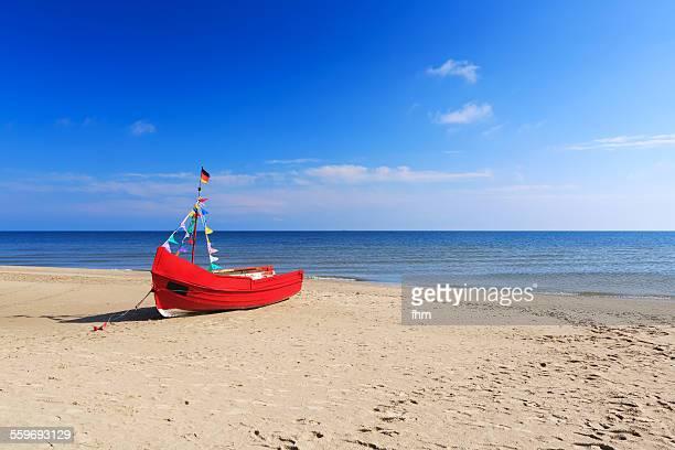 A single fishing boat on the beach, Usedom Island