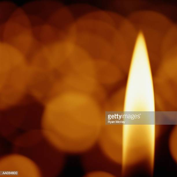 Single Flame From a Candle