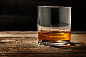 one single glass of straight bourbon also known as neat
