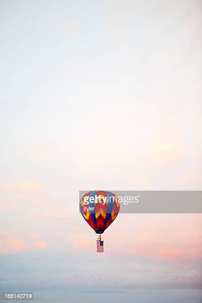 Single Hot Air Balloon at Sunrise
