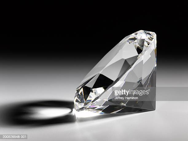 Single large diamond, close-up (still life)