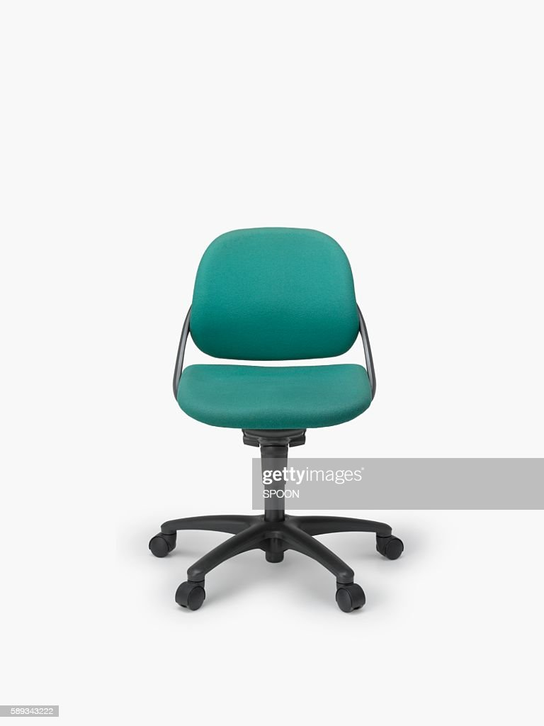 A Single Office Chair on a White Background