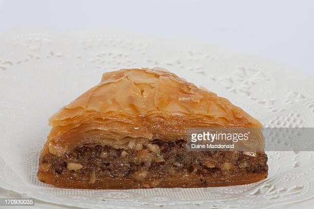 A single piece of Greek Baklava