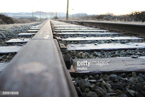 Single Railway Track : Stock Photo