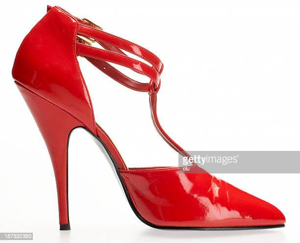 Single red high heel - see lightboxes keywords index below!