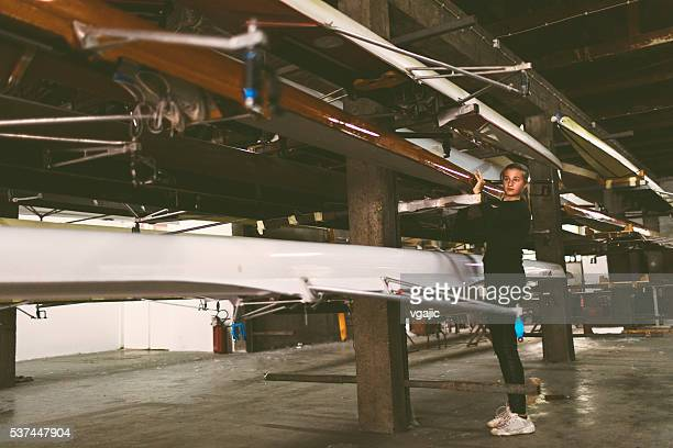 Single Scull Rowing.