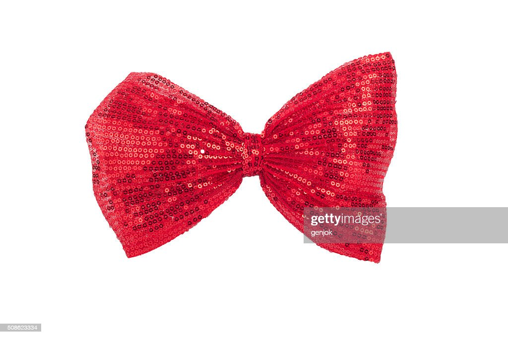 single shiny red  bow : Stock Photo