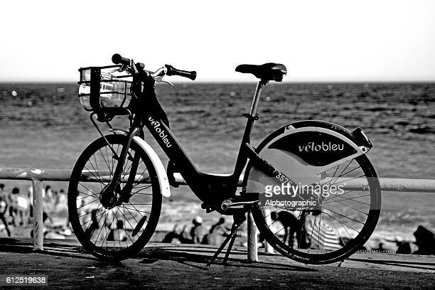 Single Velobleu bike for hire in Nice,France