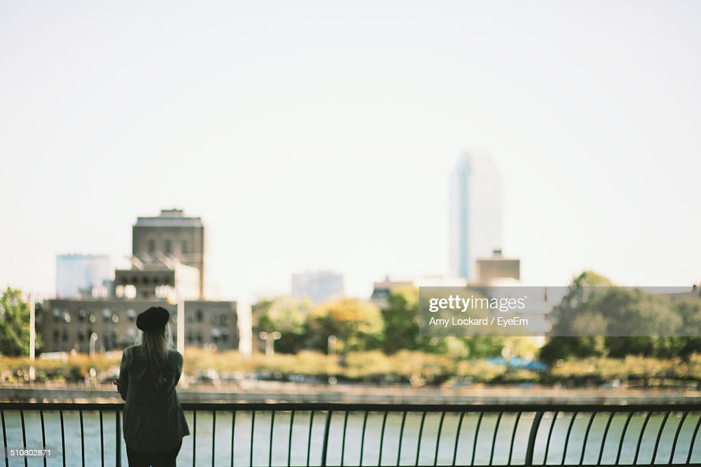 Single woman admiring the view