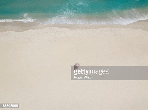 Single woman on beach