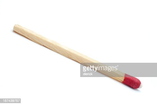 single wooden match stick
