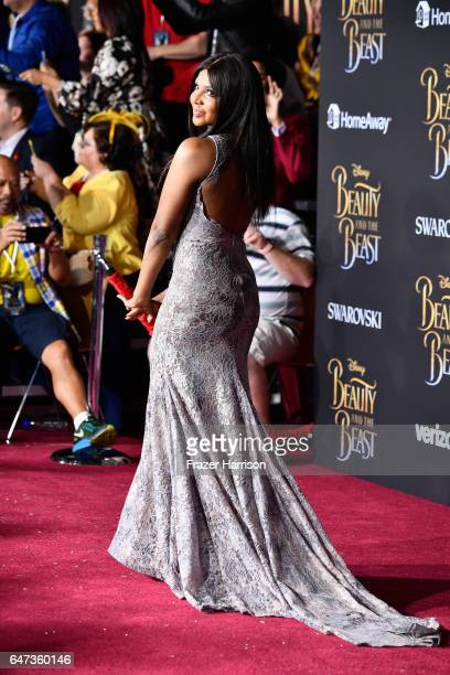 Singner/songwriter Toni Braxton attends Disney's 'Beauty and the Beast' premiere at El Capitan Theatre on March 2 2017 in Los Angeles California