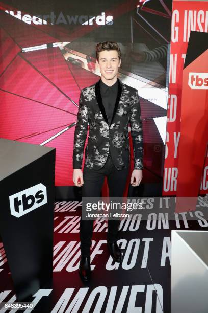 Singre Shawn Mendes attends the 2017 iHeartRadio Music Awards which broadcast live on Turner's TBS TNT and truTV at The Forum on March 5 2017 in...